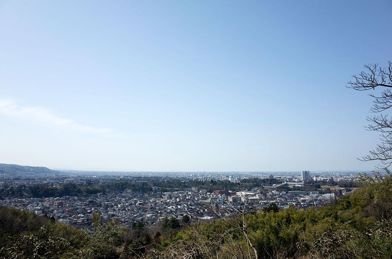 卯辰山の見晴らし台からの眺望