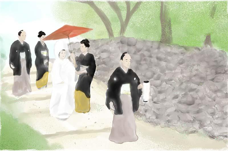 晴れの日を祝う気持ちを石垣に込めて - 嫁坂