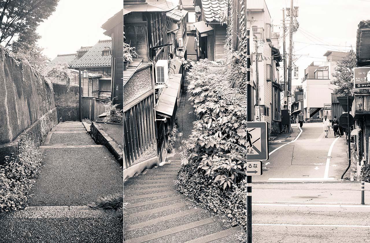 暗がり・あかり・爪先上がり - 尾張町の坂