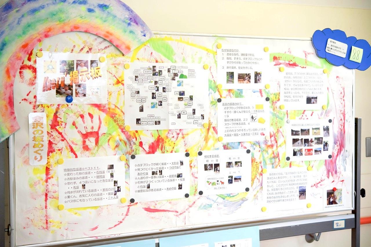 文化祭で展示する「金沢の坂めぐり」レポート
