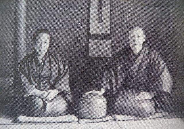 1936年(昭和11)の舘残翁夫妻(『加賀大乗寺史』より)