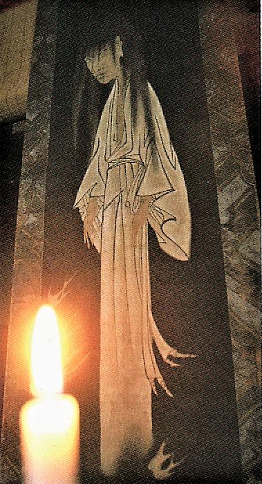 描かれたあめ買い幽霊(道入寺蔵)=『嵐山光三郎 ぶらり旅』より