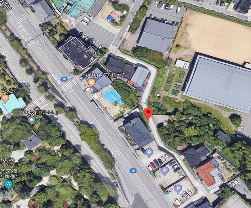 (図1ー2)グーグルマップ(航空写真)