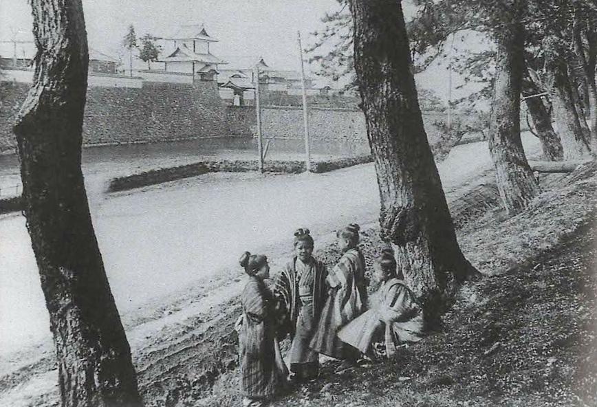 1907年(明治40)の百間堀=『20世紀の照像』(能登印刷、2003年刊)より